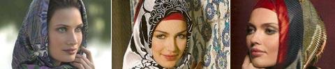 Muslimische Kopftücher